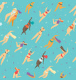 motivational body positive flat seamless pattern vector image vector image