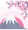 mount fuji sakura pink background image vector image vector image