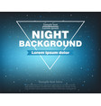 night banner background realistic template vector image vector image