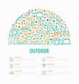 outdoor concept in half circle vector image vector image