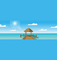 panoramic landscape platform on the sea vector image vector image