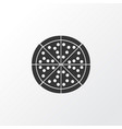 pizza icon symbol premium quality isolated vector image