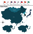 political map of east asia vector image