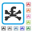 pound mortal debt framed icon vector image vector image