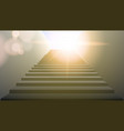 realistic white upward clear stairs vector image