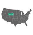 santa fe city limit sign and map usa vector image vector image