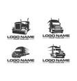 semi truck logo set designs logo template vector image vector image