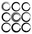set of grunge circles grunge round shapes vector image vector image