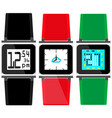 set of watches with colorful straps and displays vector image