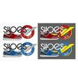 sneakers logotype vector image vector image