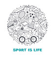 sport circle composition vector image vector image