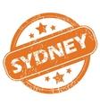 Sydney round stamp vector image