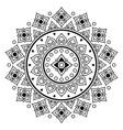 thai mandala design floral round pattern vector image