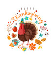 thanksgiving day happy holidays poster vector image vector image