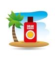 tropical vacation beach solar blocker icon vector image vector image