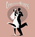 wedding dance elegant couple wearing 20s style vector image vector image