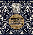 whiskey label with old wallpaper vector image vector image