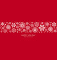 white and red seamless snowflake border christmas vector image vector image