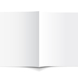 White Empty Brochure vector image vector image