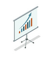 whiteboard with diagram isometric 3d icon vector image vector image