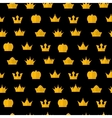 Golden Crown pattern on a black vector image