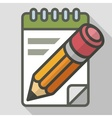 Pencil with notepad vector image