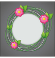 Abstract creative floral background vector image