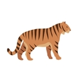 Red Tiger Cartoon Isolated Mamal Animal vector image