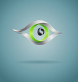 Abstract green eye on dark background vector image vector image