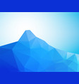 abstract low poly mountain vector image