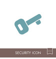 access key icon on white background vector image