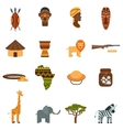African world flat icons set vector image vector image