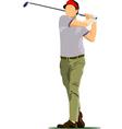 al 0612 golfer 02 vector image vector image
