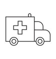 ambulance car simple medicine icon in trendy line vector image