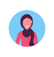 arab woman face avatar arabic girl wearing vector image vector image