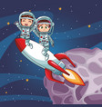 astronaut kids cartoon vector image