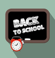 Back to School Title on Blackboard vector image vector image