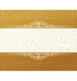 Banner islam ethnic design Gold Invitation vector image vector image