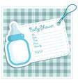 Blue bottle baby shower card