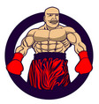 boxer design vector image