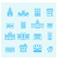 buildings icon line vector image vector image