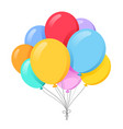 bunch balloons in cartoon flat style isolated vector image vector image