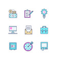 business - set line design style icons vector image vector image
