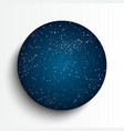 Circle frame starry night sky