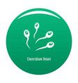clostridium tetani icon green vector image