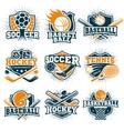 Colorful Sport Emblems Set vector image