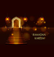cover of ramadan kareem vector image