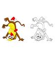 Crazy monkey vector image vector image