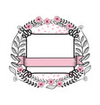 curvy frame and ribbon vector image