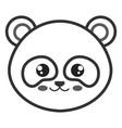 cute and tender bear panda head character vector image